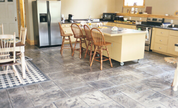 stamped concrete floors indoors