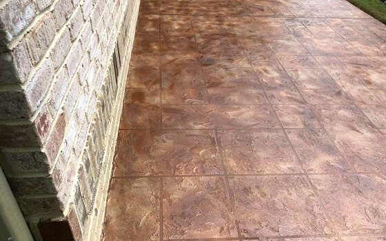 stained stamped concrete