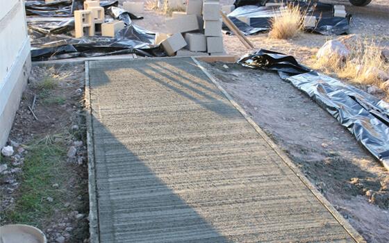 stone overlay concrete patio