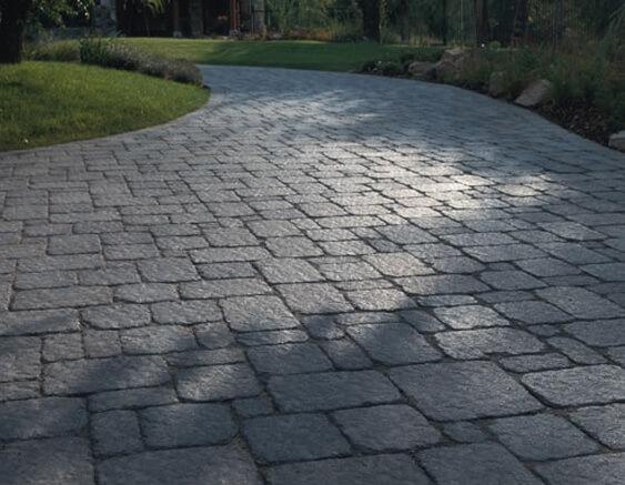 brick and concrete patio
