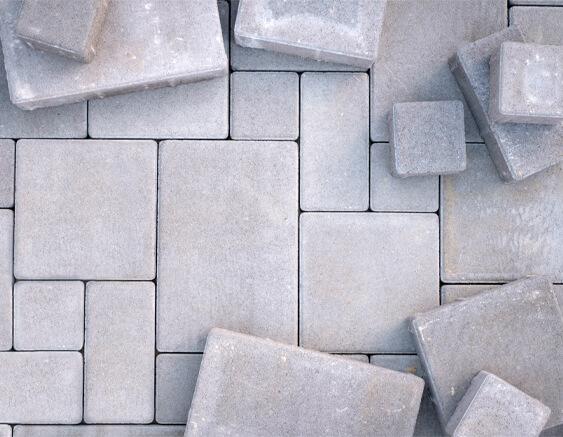 stone and brick installation