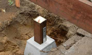 concrete footings installation