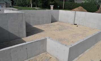 concrete wall installation